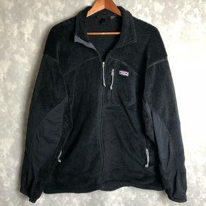 Patagonia black full zip soft fleece jacket